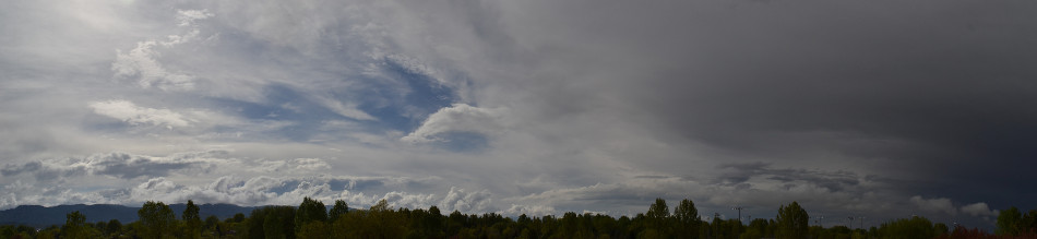 Clouds Over the Rockies After a Storm Panoramic