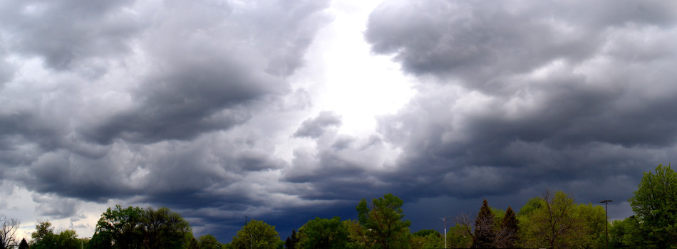 Mid-Afternoon Thunderstorm Panoramic 2