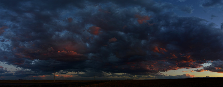 Vibrant Stormy Sunset Clouds Panoramic 3