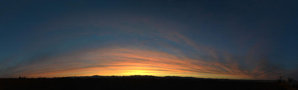 Orange Panoramic Sunset Clouds, Cirrus 2