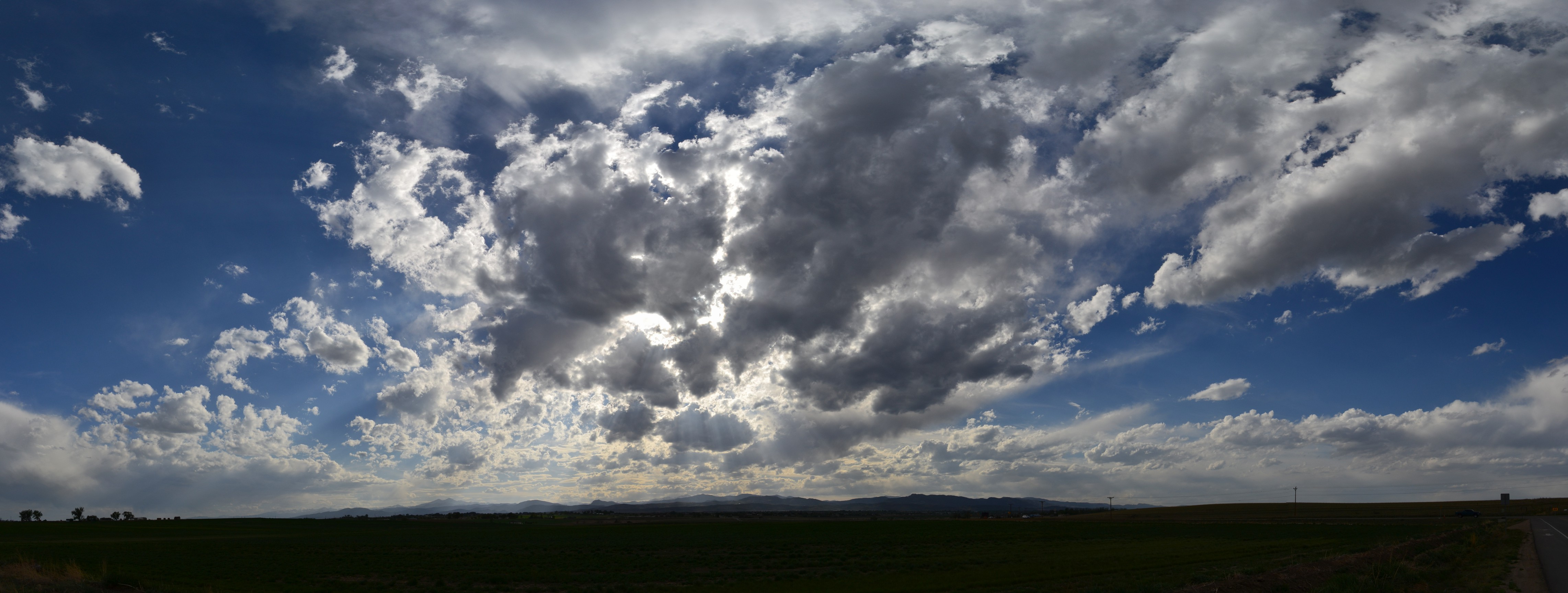 Backlit God's Rays Stratus Clouds Panoramic, 2012-05-03 - Stratus ... Kevin