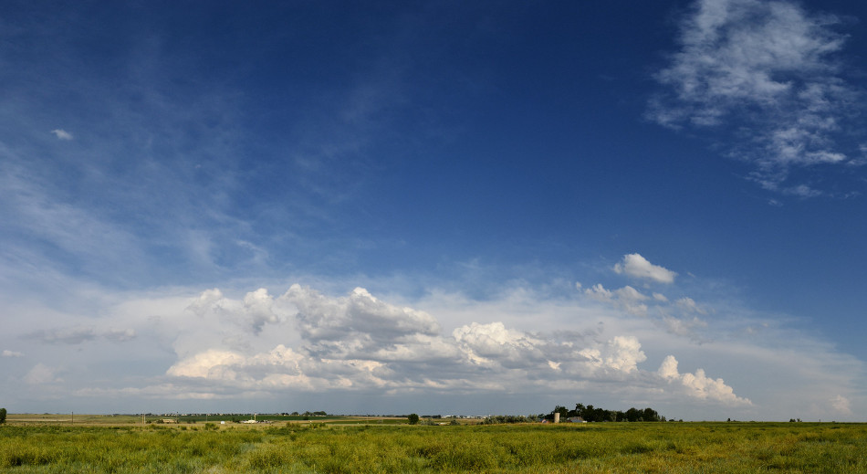 Thunderstorm over Weld County CO, Cumulus Clouds