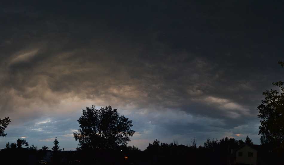 Swirly Underside of a Thunderstorm, Panoramic
