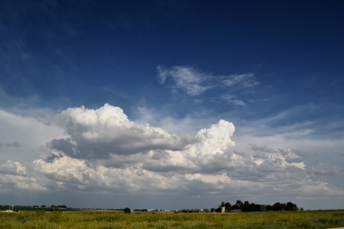 Thunderstorm over Weld County CO, Cumulus Clouds 2