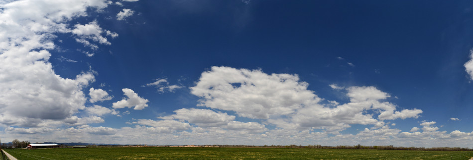 Scattered Stratus Clouds on a Sunny Afternoon, Panoramic