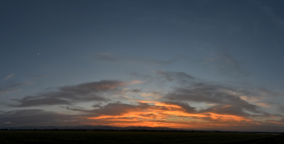 Orange & Salmon Colored Sunset Panoramic 2