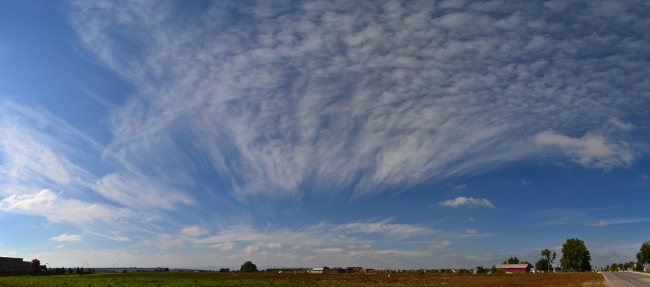 Cirrus Fan Shaped Clouds Panoramic