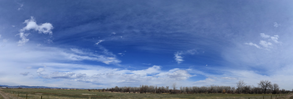 A Variety of Afternoon Springtime Clouds, Panoramic