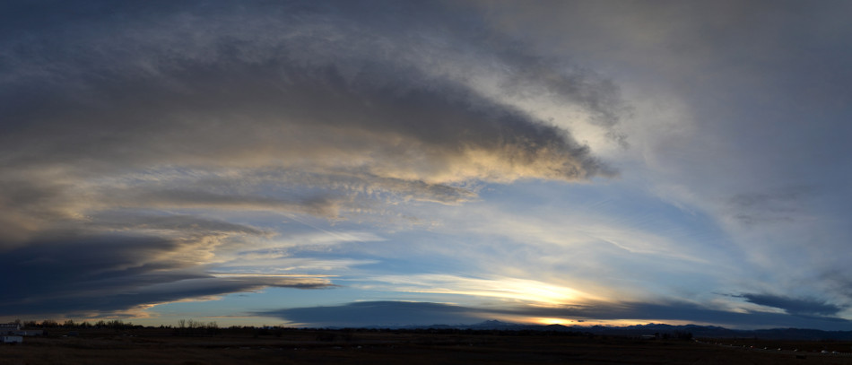 Arching Stratus Cloud Sunset Panoramic
