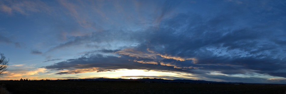Dark Stratus Cloud Sunset, Panoramic