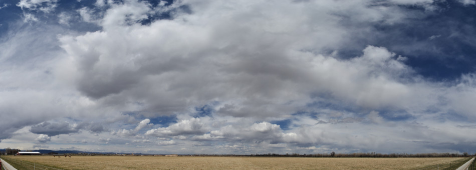 Spring Afternoon Clouds Panoramic