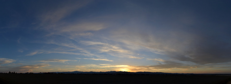 Yellow Cirrus Cloud Sunset Panoramic
