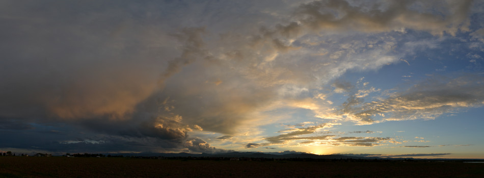 Summer Evening Panoramic Sunset