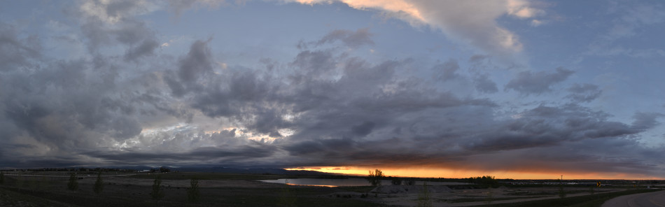 Stormy Sunset Panoramic