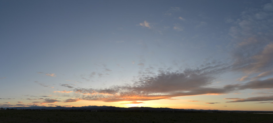 Simple Sunset Panoramic